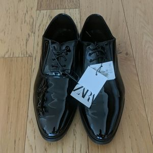 BNWT Zara Men's Derby Shine Dress Shoes 41 8